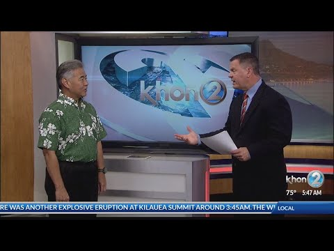 Governor Ige addresses state response to lava and flooding