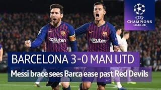 Barcelona vs Man Utd (3-0) | UEFA Champions League Highlights