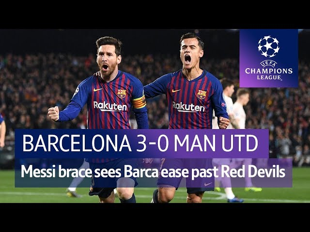 Barcelona vs Man Utd (3-0) | UEFA Champions League Highlights