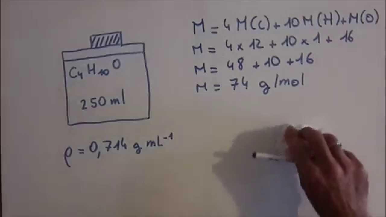 comment calculer le nombre de moles contenues dans un flacon