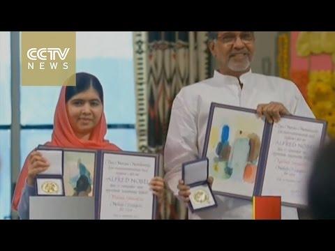 Malala Yousafzai and Kailash Satyarthi receive Nobel Peace Prize in Oslo