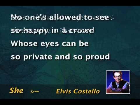 She HQ  karaoke   Elvis Costello