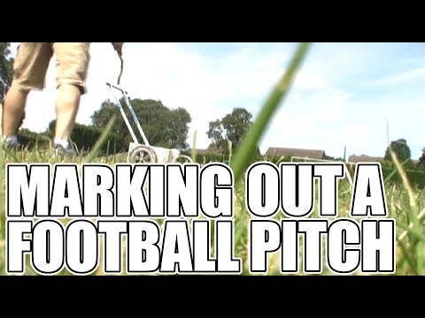 How to mark lines on a grassroots football pitch