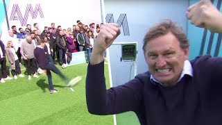 Tony Adams takes out crew member with a free-kick & embarrasses Lloyd Griffith 🤣 | Soccer AM Pro/AM