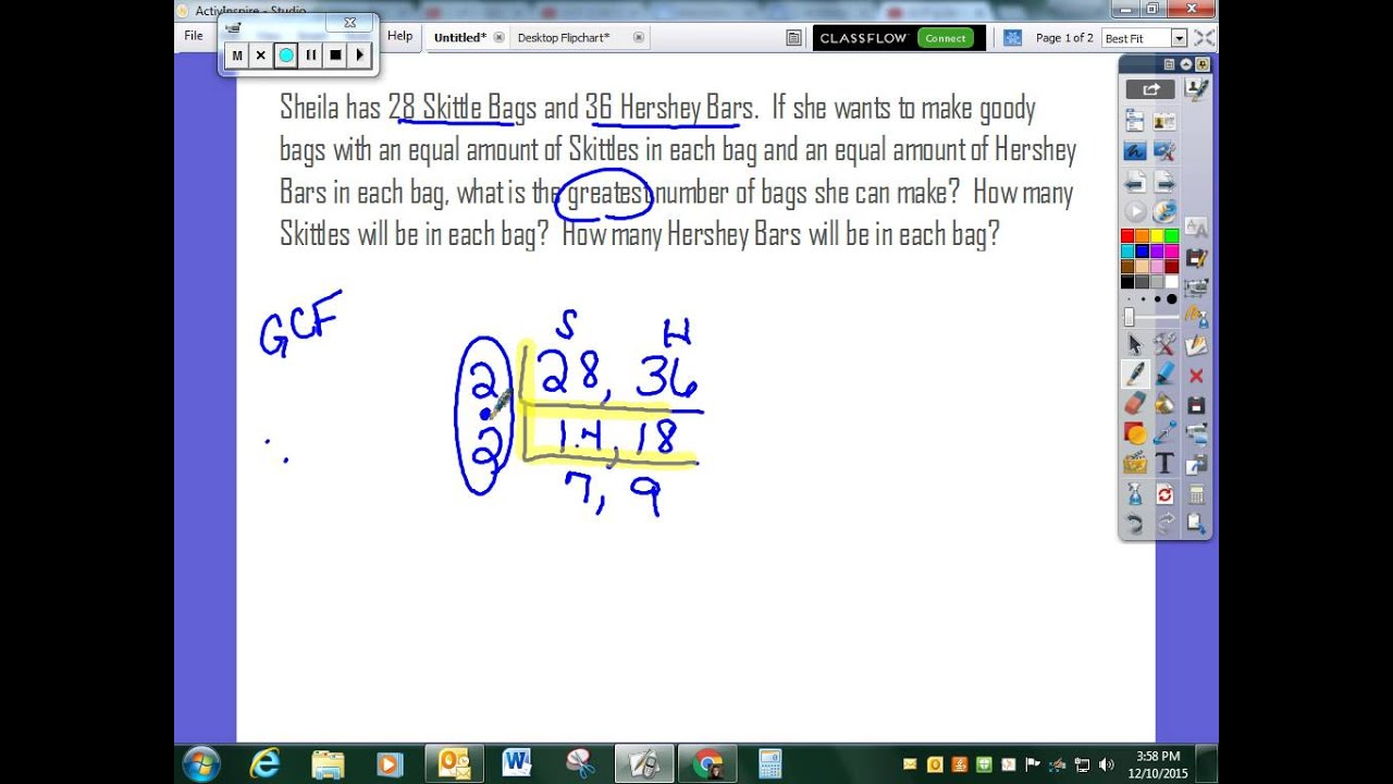 Gcf Lcm Word Problems