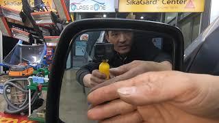 그랜드 스타렉스 차량에 주차주 자동 사이드미러 자동열림…