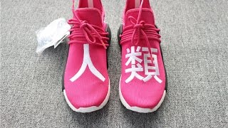 "ed101dc1d9955 PHARRELL × ADIDAS NMD HUMAN RACE ""SHOCK PINK"" BB0621 FROM  yeezyswholesale.net"
