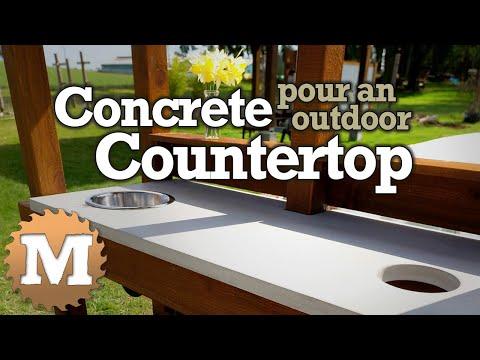 Pour a Concrete Countertop for an Outdoor Bench