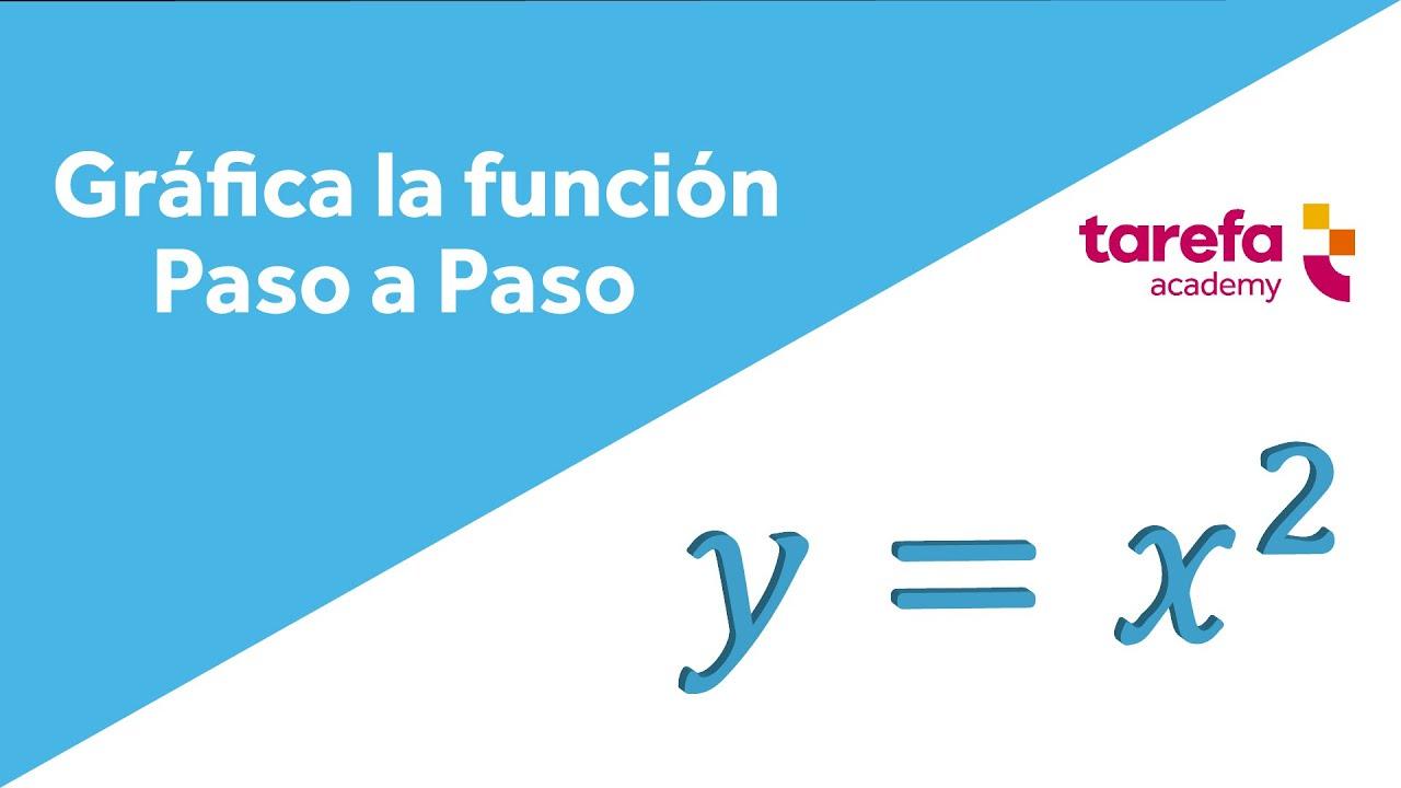 Cómo graficar la función y = x^2 - YouTube