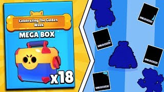 18 MEGA BOXES = 10 NEW BRAWLERS!? BEST BRAWL BOX OPENING IN BRAWL STARS!