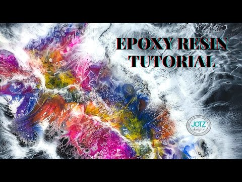 Epoxy Resin Abstract using Silicone Oil tutorial