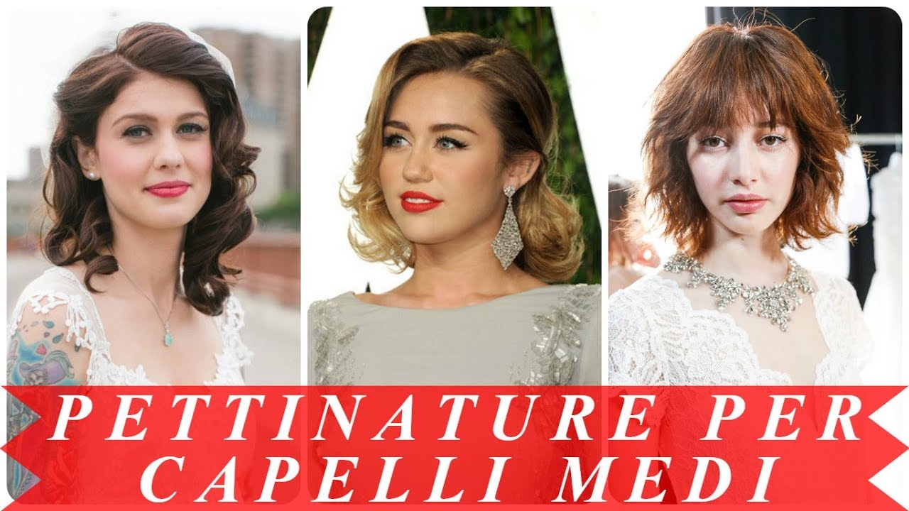 Moda Acconciature Matrimonio Capelli Medi 2018