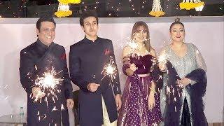 Govinda's Diwali Party 2018 With Family: Son Yashvardhan Ahuja, Daughter Tina Ahuja & Wife Sunita