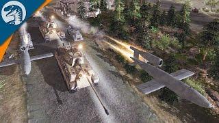 INSANE HEAVY WEAPON BOMBARDMENT | LRB MOD | Men of War: Assault Squad 2 Gameplay