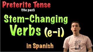 02 spanish lesson preterite stem changers e i