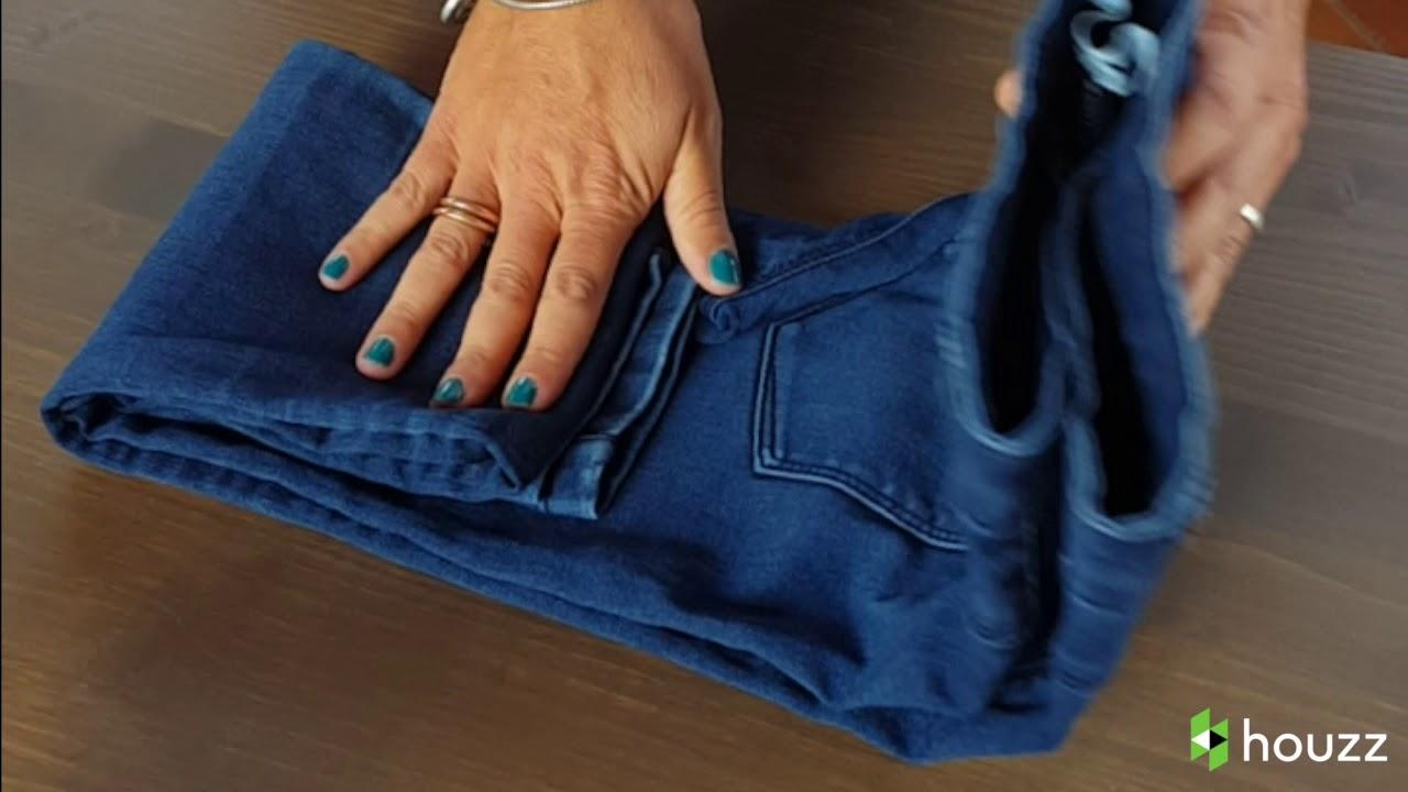 Come Sistemare I Jeans Nell Armadio.Houzz Decluttering Come Piegare Un Paio Di Jeans Con Il Metodo A