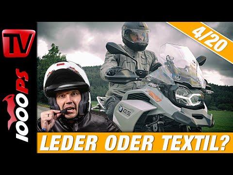 Ausrüstung und Sicherheit! Welche Motorradbekleidung passt für meine Anforderung? Leder oder Textil?
