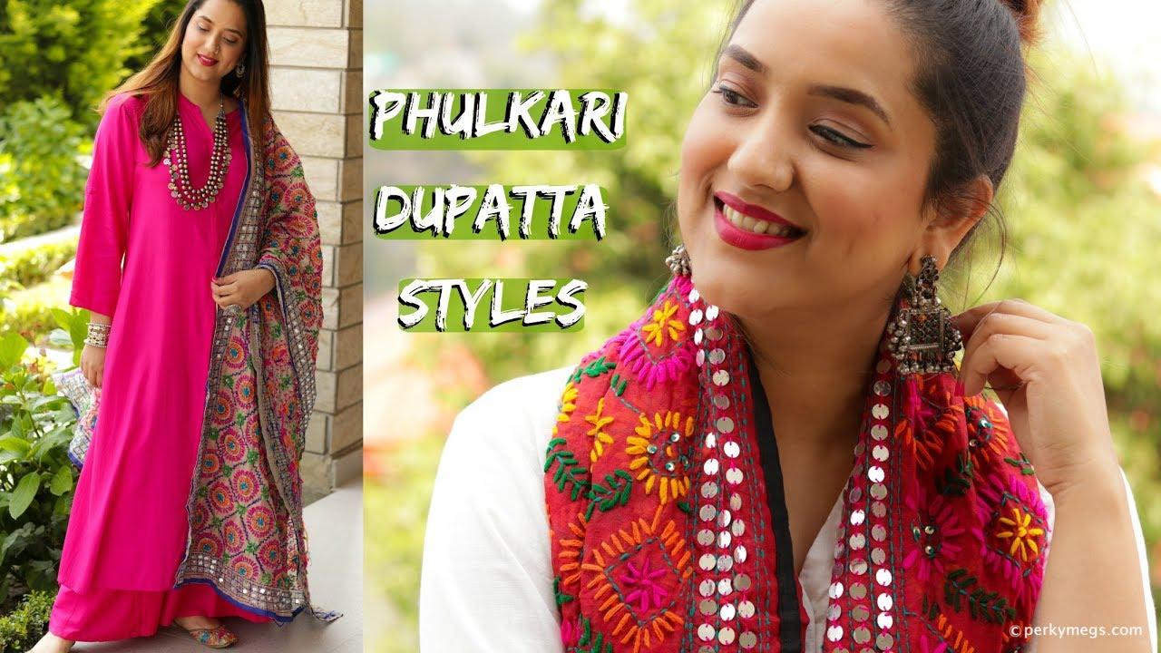 59dd41877 How to wear Phulkari Dupatta in different ways   Indian Ethnic Wear  Lookbook   Perkymegs