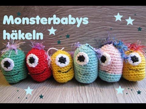 Monster Babys Häkeln Schlüsselanhänger Für Anfänger Youtube