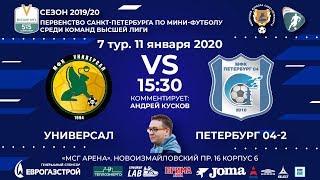 Смотреть видео УНИВЕРСАЛ VS ПЕТЕРБУРГ 04-2. ВЫСШАЯ ЛИГА 2019/20 онлайн