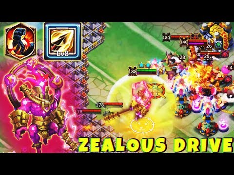 STORM EATER | 8/8 Zealous Drive | 7 Stone Skin | GAMEPLAY | CASTLE CLASH