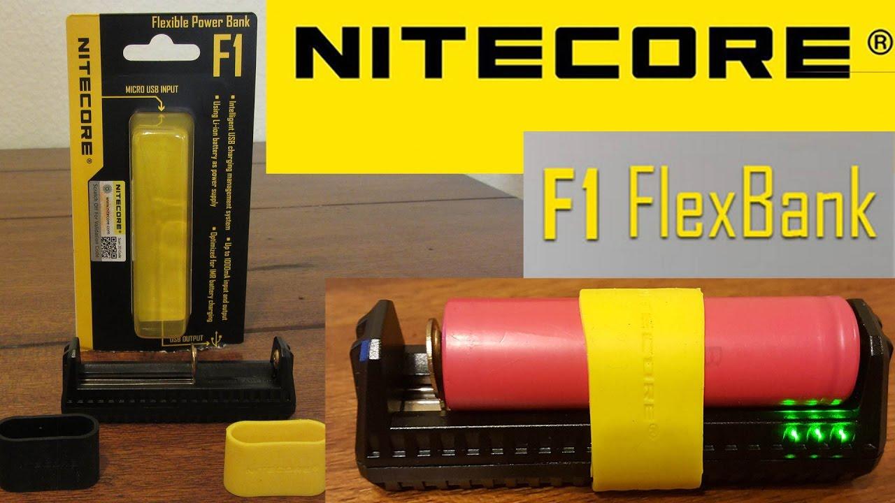 USB laddare Li ion Nitecore F1