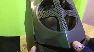 Philips MMS2030 2 1 HoMe TheaTre UnBoxing SounD TesT by AKS