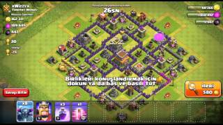 Clash Of Clans'ta 8 Tane P.E.K.K.A Ile Saldırdım!!!!