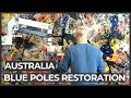 Australia's iconic Blue Poles goes under major restoration