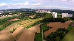 Plieningen am Fortuna Hochhaus Drohnenflug