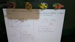 Persamaan lingkaran berpusat di P (a,b)   materi dan contoh soal