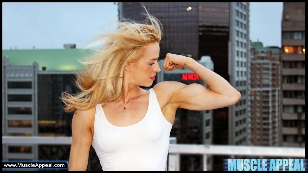 Girl biceps
