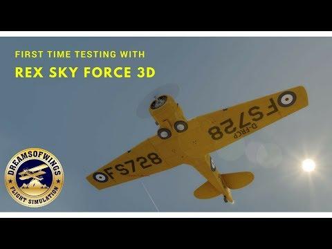 First flight with Rex Sky Force 3D  A2A Simulations Accusim T6 Texan  Harvard