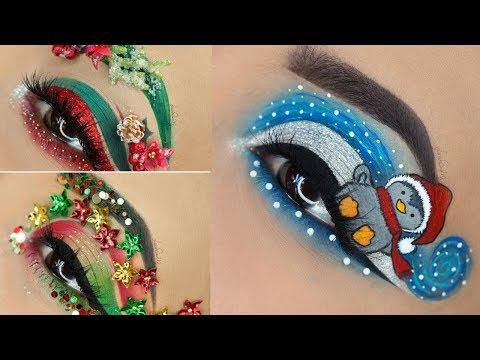 Christmas Eye Makeup Tutorial Compilation