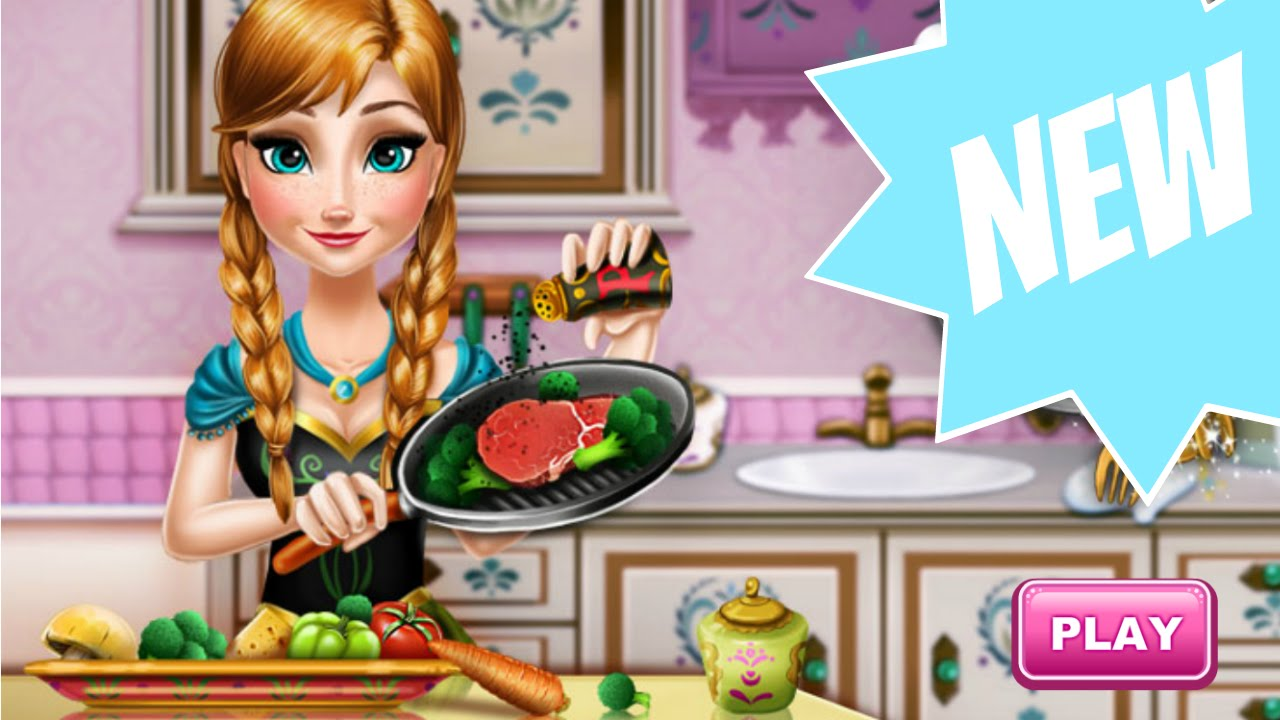 Anna Real Cooking - Frozen Games | Play-Games.com