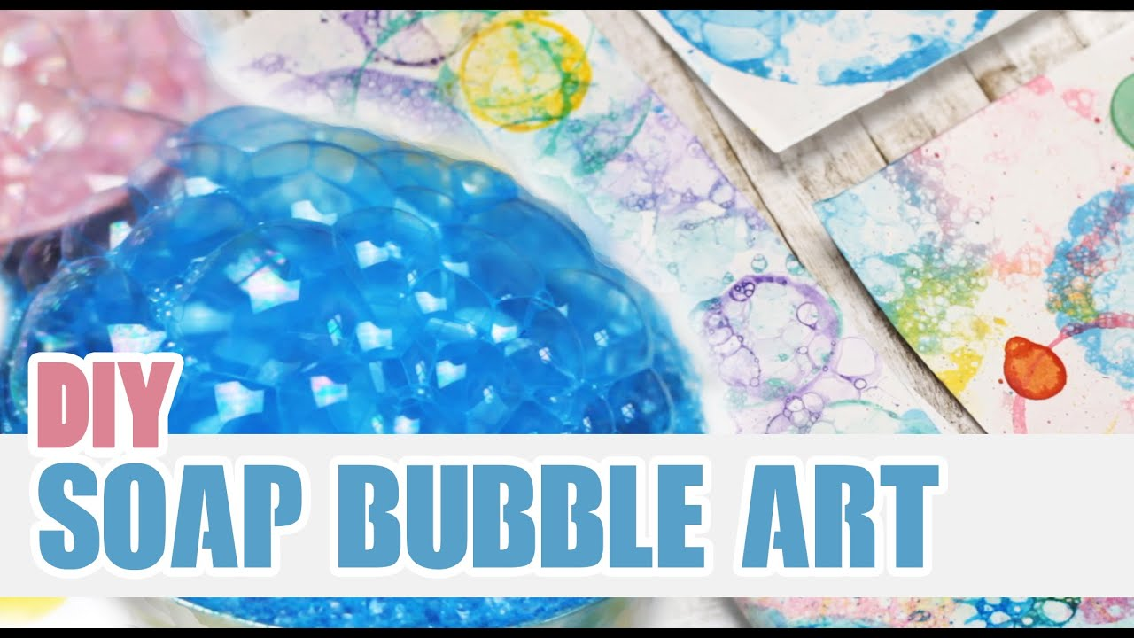 Diy soap bubble art personalize your notebooks doovi for How to make bubbles liquid at home