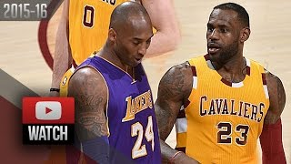 LeBron James vs Kobe Bryant EPIC DUEL Highlights (2016.02.10) Cavaliers vs Lakers - LEGENDS!