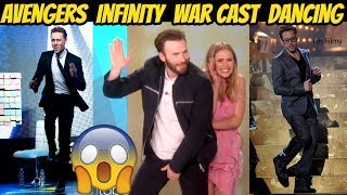 Avengers Infinity War Cast Dancing Ft. Chris Evans, Robert Downey Jr. & Tom Holland