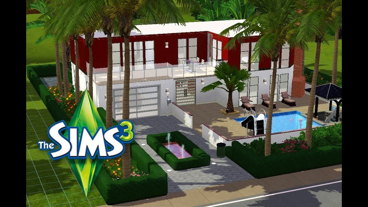 les sims 3 construction maison de r ve youtube. Black Bedroom Furniture Sets. Home Design Ideas