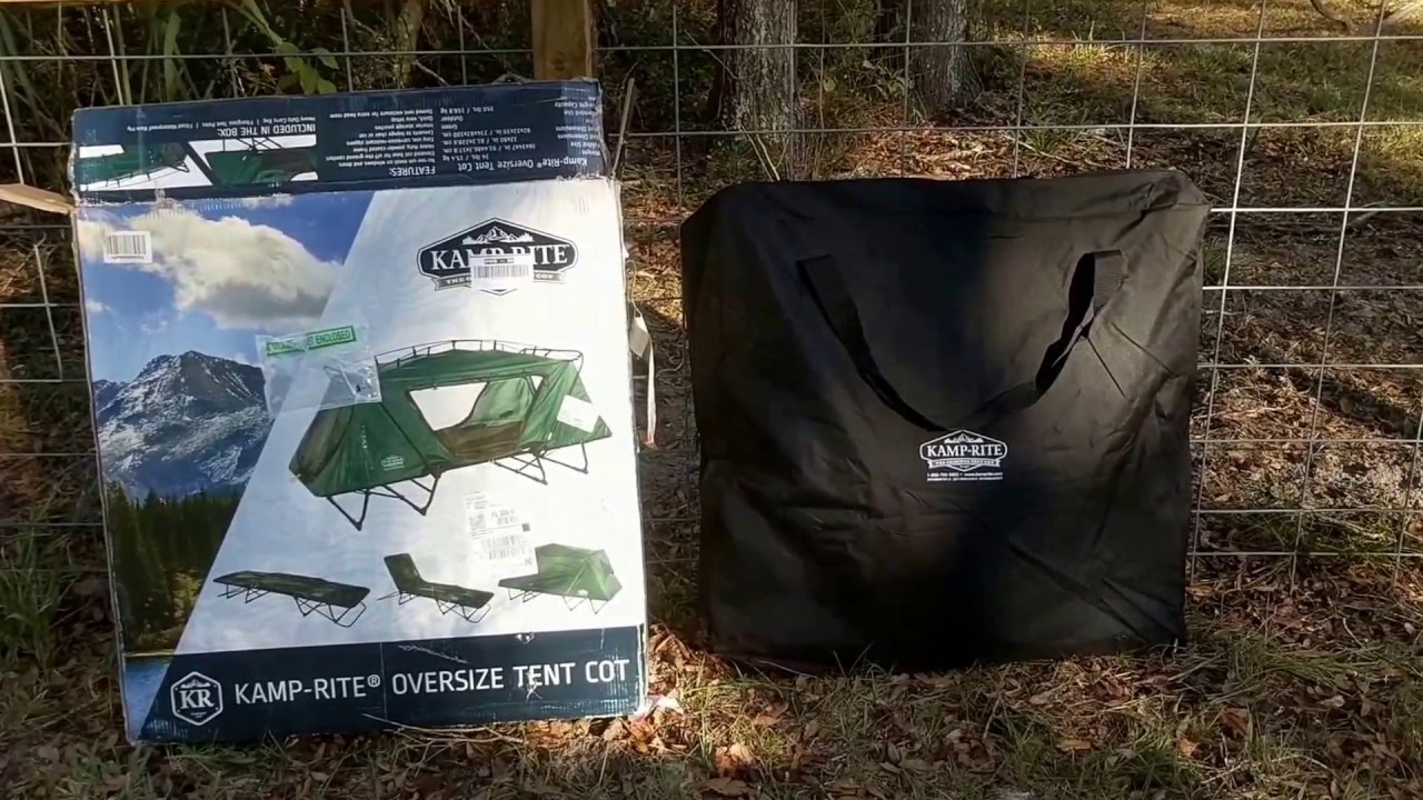 REVIEW OF THE KAMP-RITE OVERSIZE TENT COT & REVIEW OF THE KAMP-RITE OVERSIZE TENT COT - YouTube