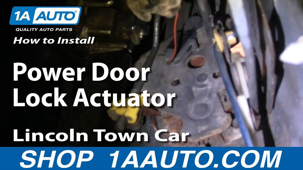 how to install repair replace rear power door lock actuator lincoln town car 98 04. Black Bedroom Furniture Sets. Home Design Ideas