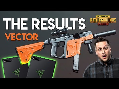 THE RESULTS. VECTOR, WEAPON SKINS & PHONES... PUBG Mobile