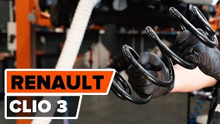 How to change rear springs on RENAULT CLIO 3 [TUTORIAL AUTODOC]