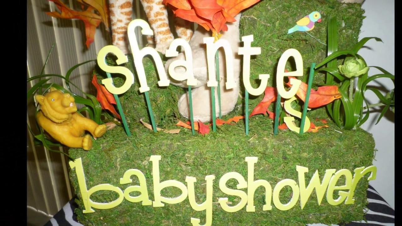 Safari theme baby shower decoration dreamark events www for Baby decoration safari
