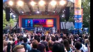 Neyo performs his hit titled Because of You during Good Morning Arm...
