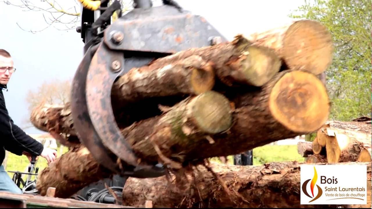 Vente de bois de chauffage en Vendée YouTube # Vente De Bois De Chauffage En Gros