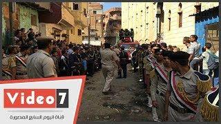 جنازة عسكرية للشهيد يوسف أبو العينين بمسقط رأسه بالغربية