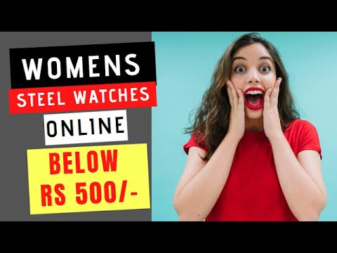 Watches For Women With Metal Strap Under Rs 500 | Girls Wrist Watch Online Review |