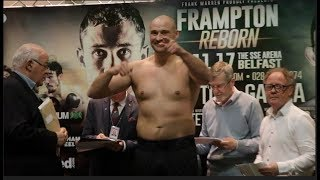 TYSON FURY!? NO LAD. BIG LIVERPOOL HEAVYWEIGHT ALEX DICKINSON STEPS ON THE SCALES