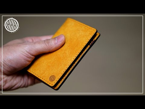 [Leather Craft] Simple business card holder / free PDF pattern